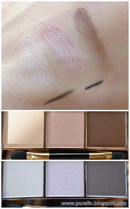 Swatches Dr.Hauschka Eyeshadow Trio