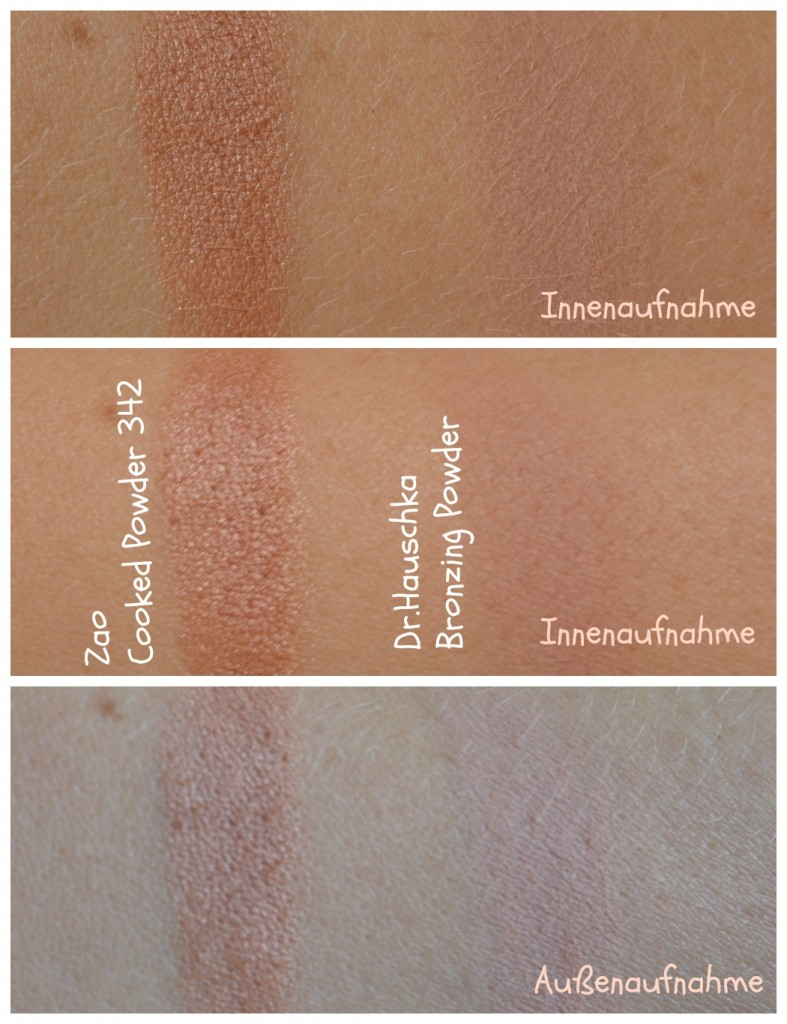 swatches zao bronzer