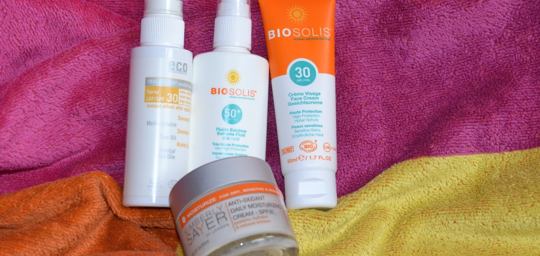 natürlicher Sonnenschutz Gesichts
