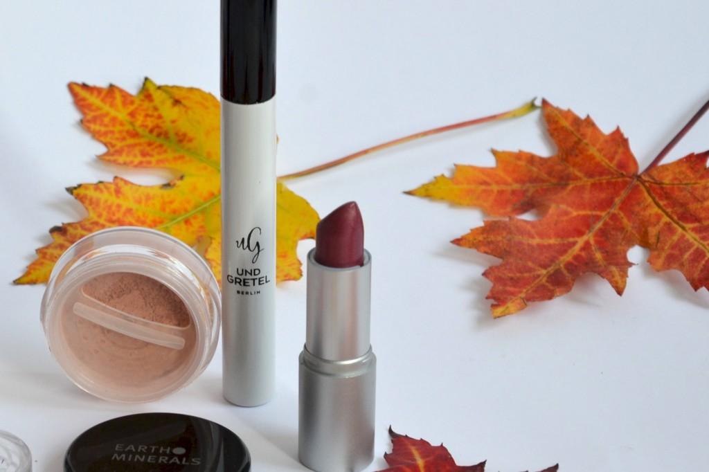Herbst Mascara und Lippenstift -2