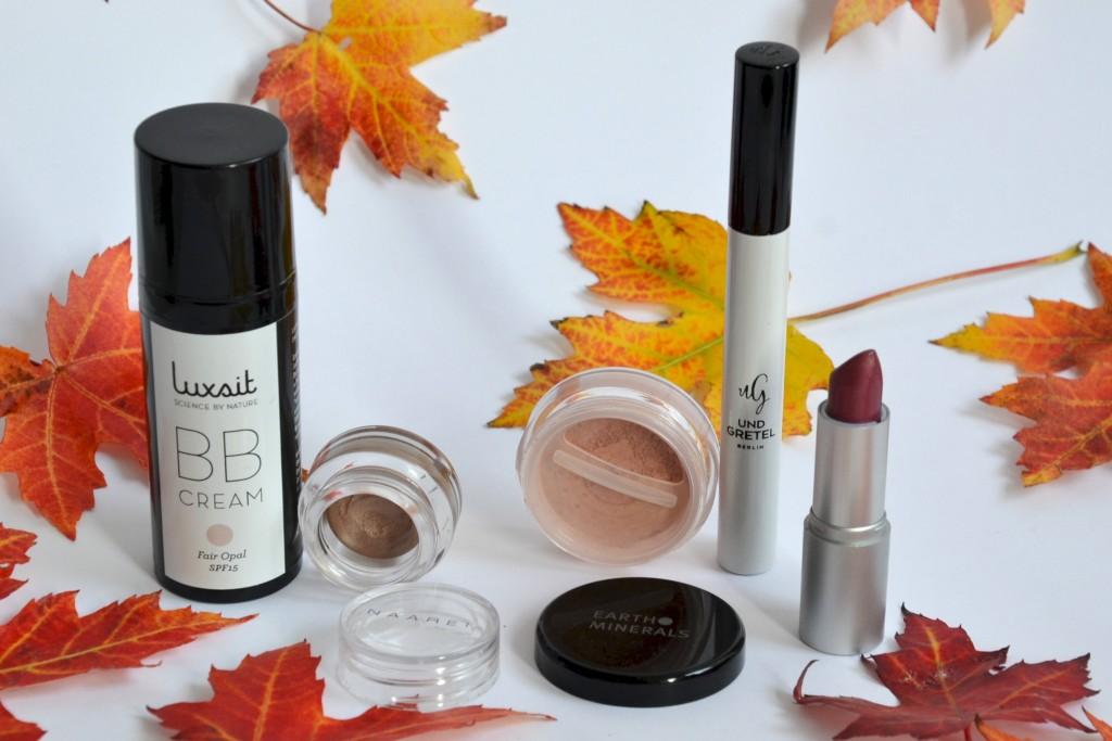 Herbst Mascara und Lippenstift