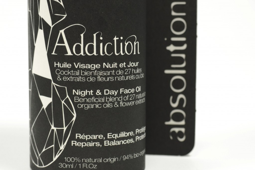 Absolution Addiction Oil packaging