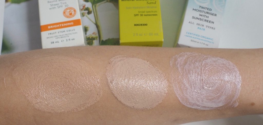 Swatches tinted Moisturizers and Bb cream SPF 30 - 2